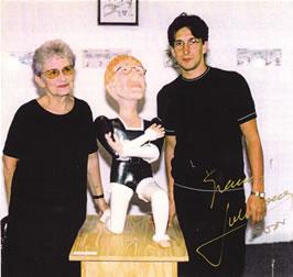 Rosa Barck de Narosky con Julio Bocca